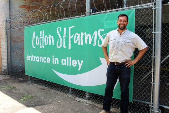 Michael Billings is the CEO of Cotton St. Farms, a hydroponics grow house to begin operation in downtown Shreveport.
