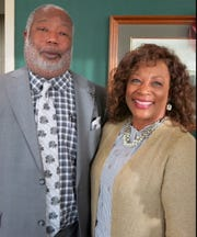 Caddo Dist. Atty. James Stewart and wife Helen at Retirement Celebration for Jo Ann Stewart.