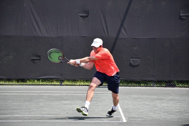 Anthony McMaster took home the men's singles title a the City Championships on Sunday.