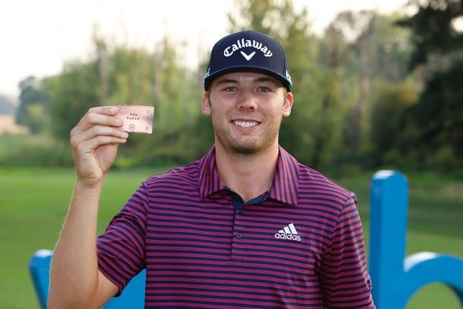 Shreveport's Sam Burns captured his PGA Tour card for the 2018-19 season.