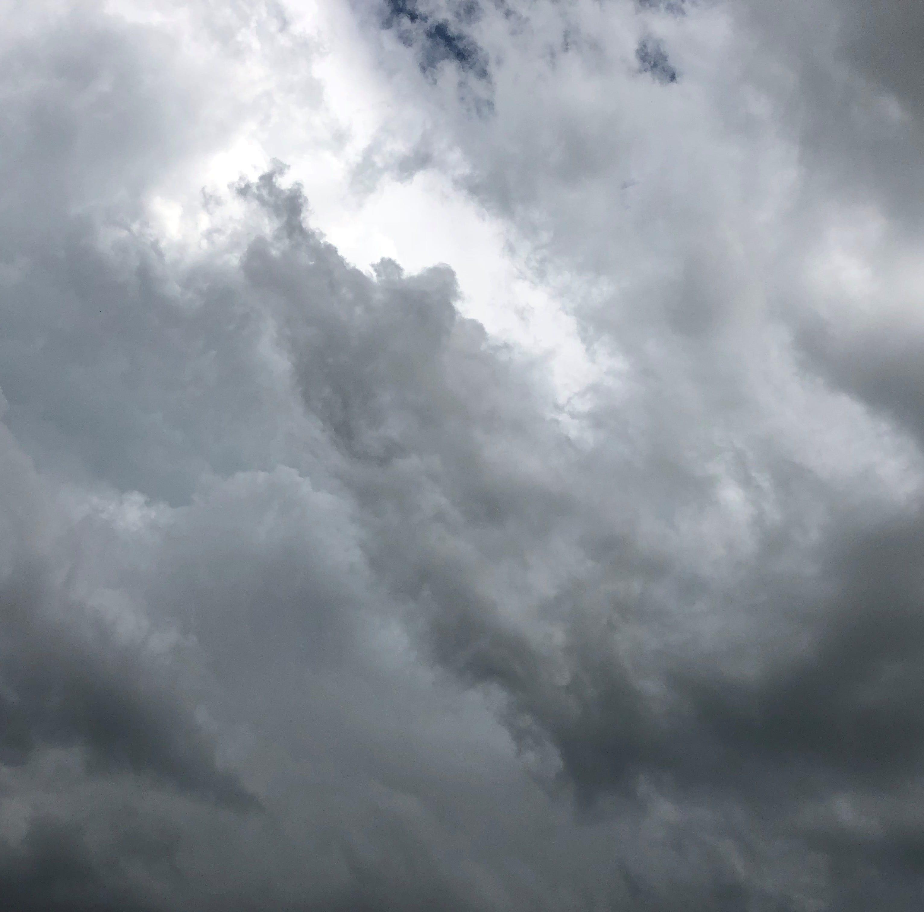 A file photo of dark clouds.