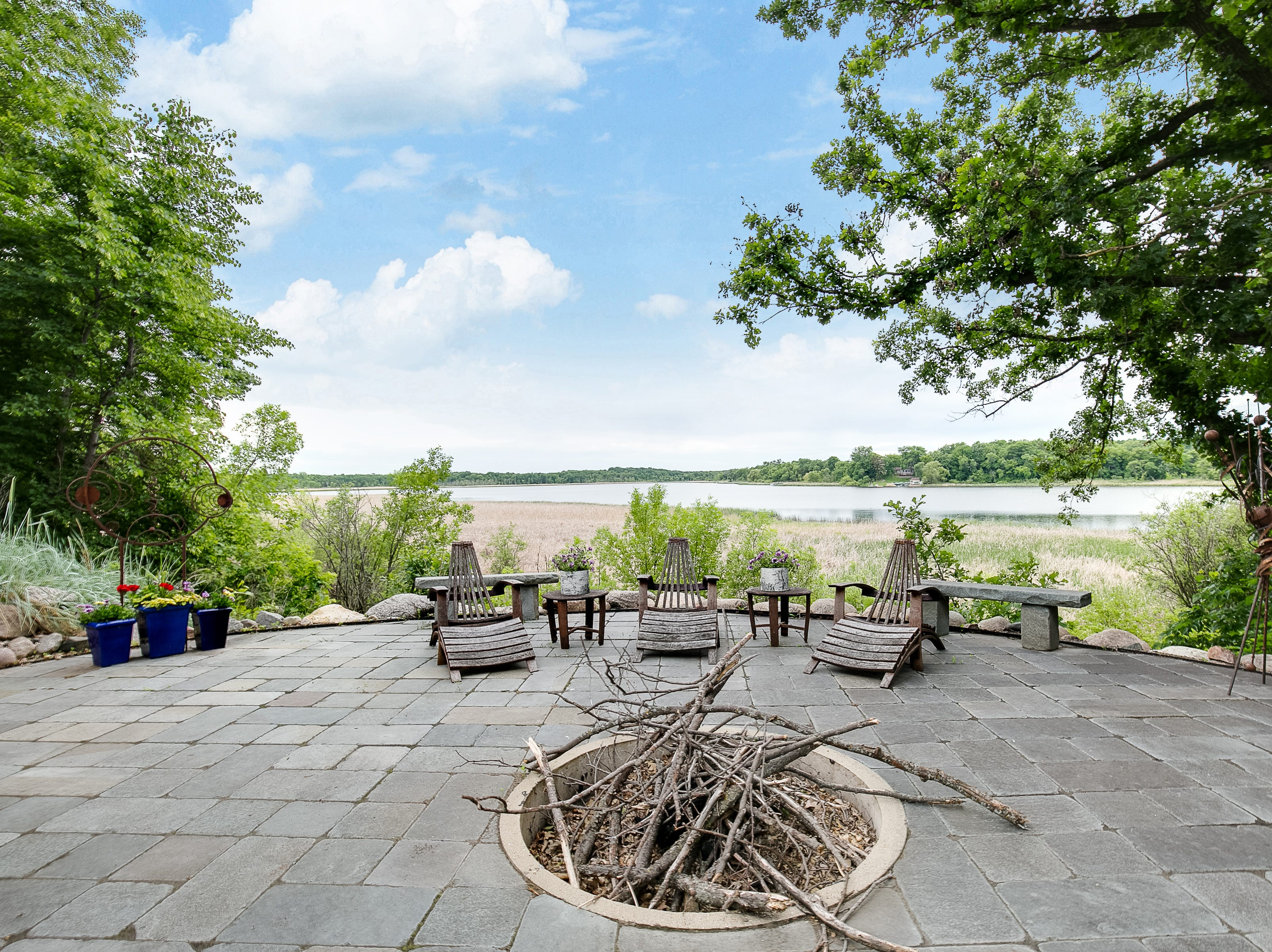 Overlooking 952 feet of private Otter Lake shoreline, there is no shortage of breathtaking views.