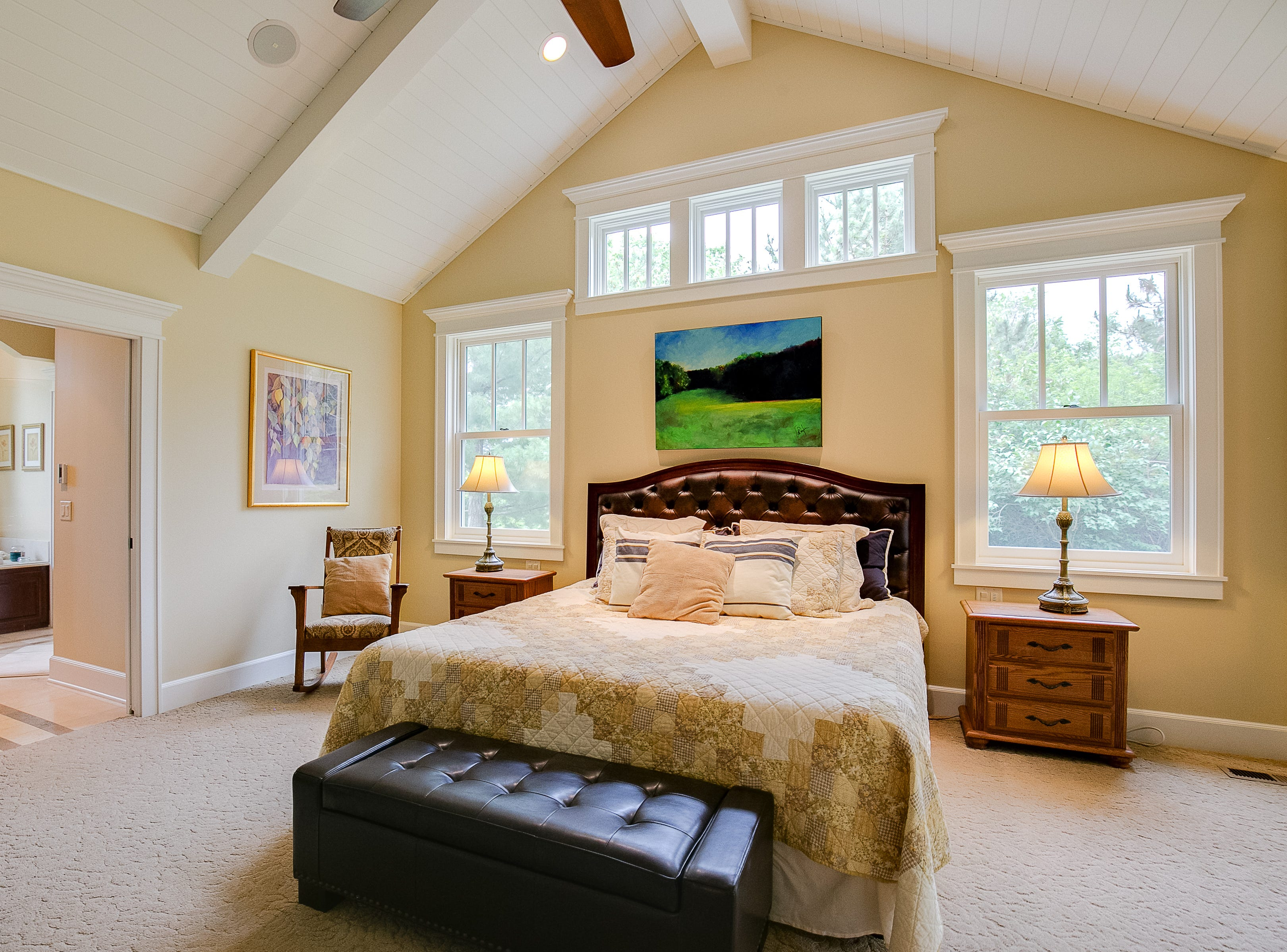Another true highlight of the home is the bright master suite.