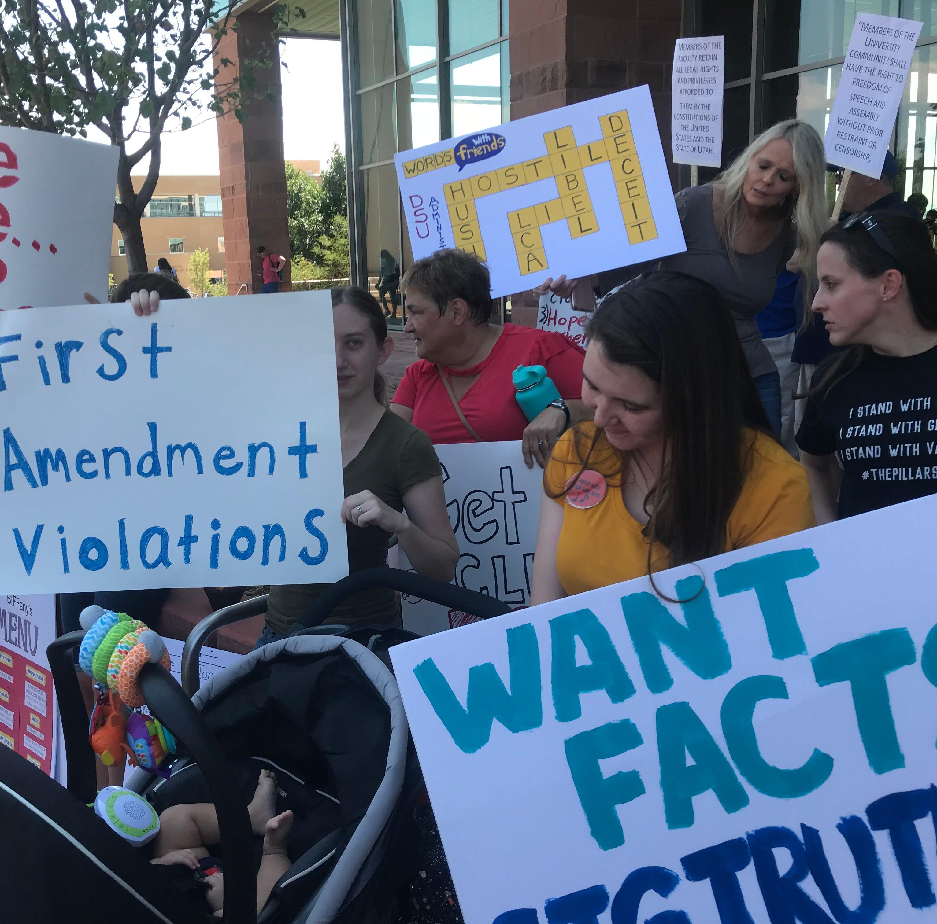 Professor in limbo over job joins DSU protest