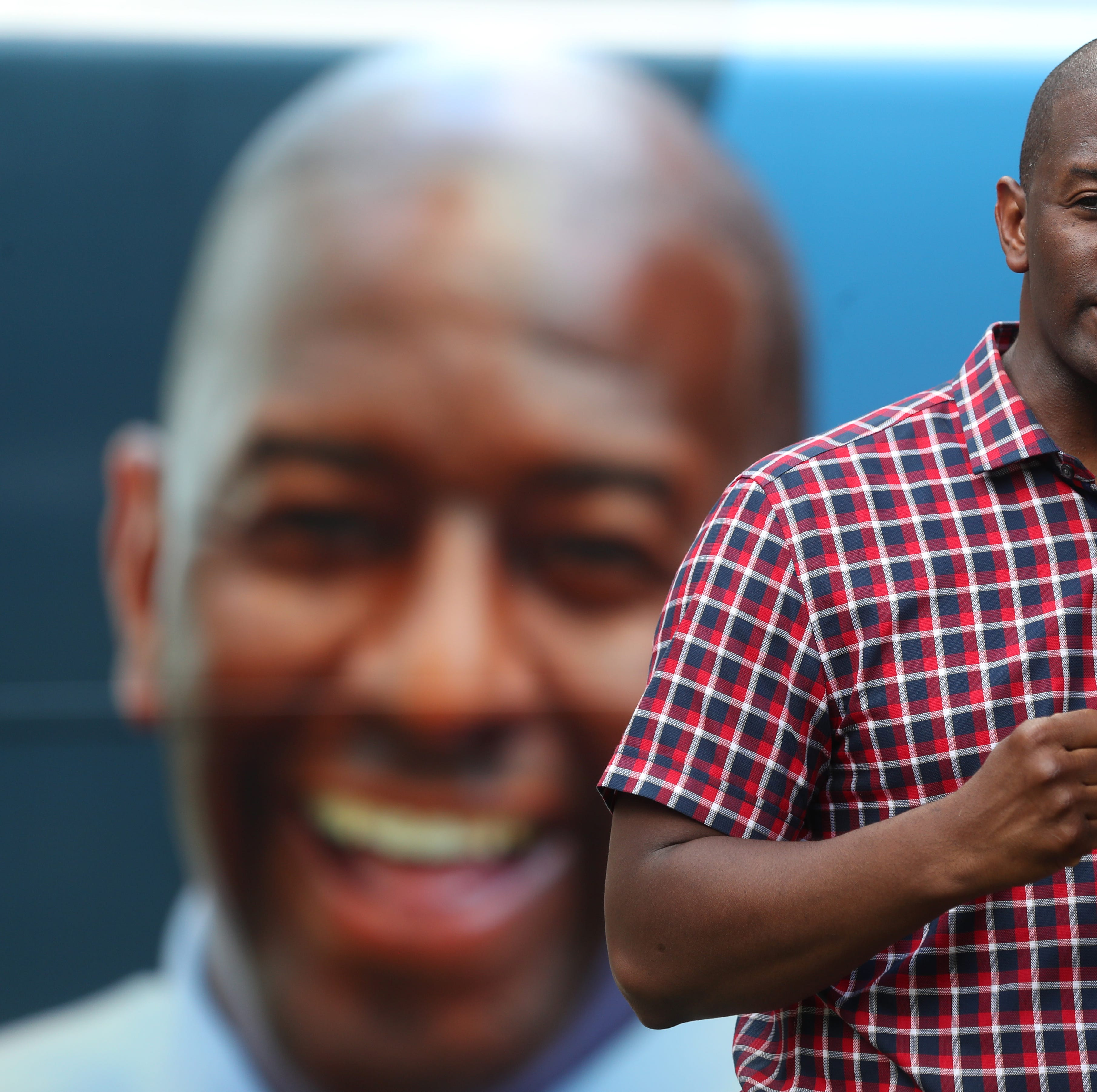 Gubernatorial candidate Andrew Gillum speaks to supporters as he kicks off his state-wide bus tour with a rally at Kleman Plaza on Monday, Aug. 20, 2018.