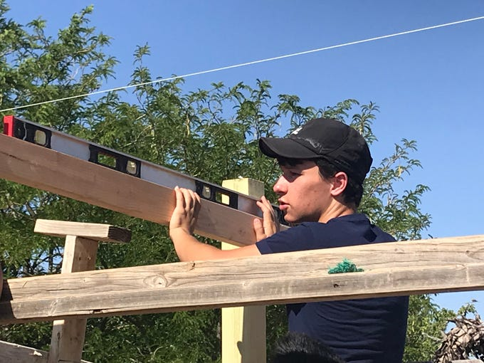 James Cordero, a member of Troop 279 and Montwood High senior, recently completed his Eagle Project at Pet Guardian Angel, finishing off 11 years in scouting. Cordero built a shelter to protect the dogs from the sun.