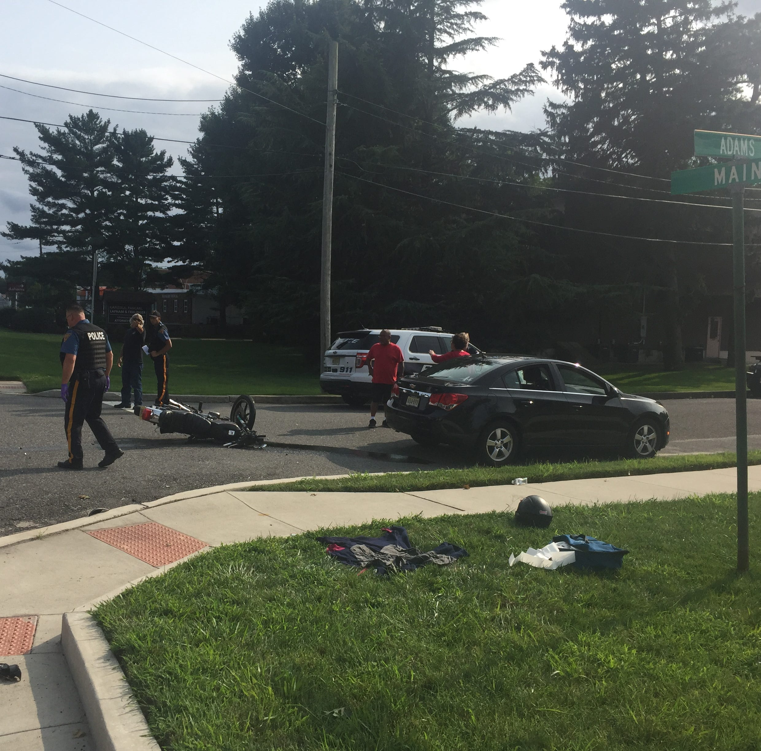 Motorcyclist seriously injured in Vineland collision