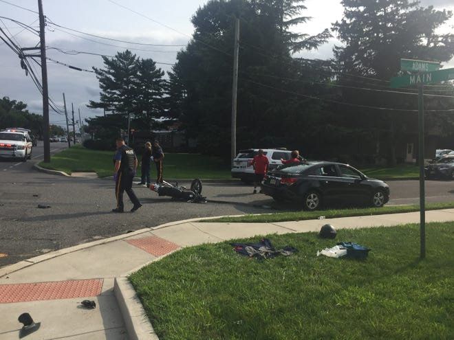 Vineland Police are investigating an Aug. 20, 2018 collision at Main Road and Adams  Avenue that sent a motorcyclist to Cooper University Hospital with multiple  injuries.