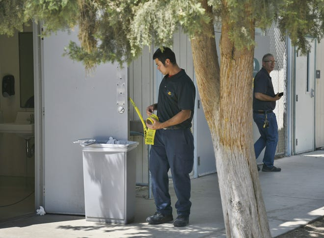Visalia firefighters and COS police were called to five fires on campus.