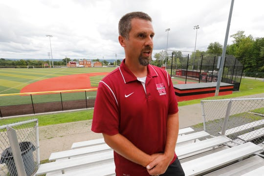 Athletic director Joe Sigillo on Aug. 20, 2018, talks about how Nyack High School athletic facilities has been recognized as one of the best high school sports venues.