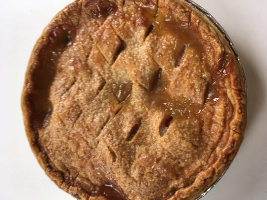 Peach pie by Baked by Susan in Croton-on-Hudson.