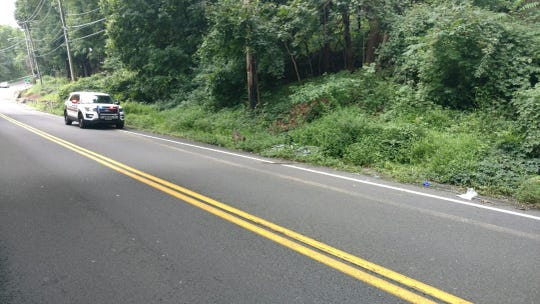 Piermont Police responded Saturday morning, Aug. 18, 2018, to a hit-and-run accident on Route 9W.