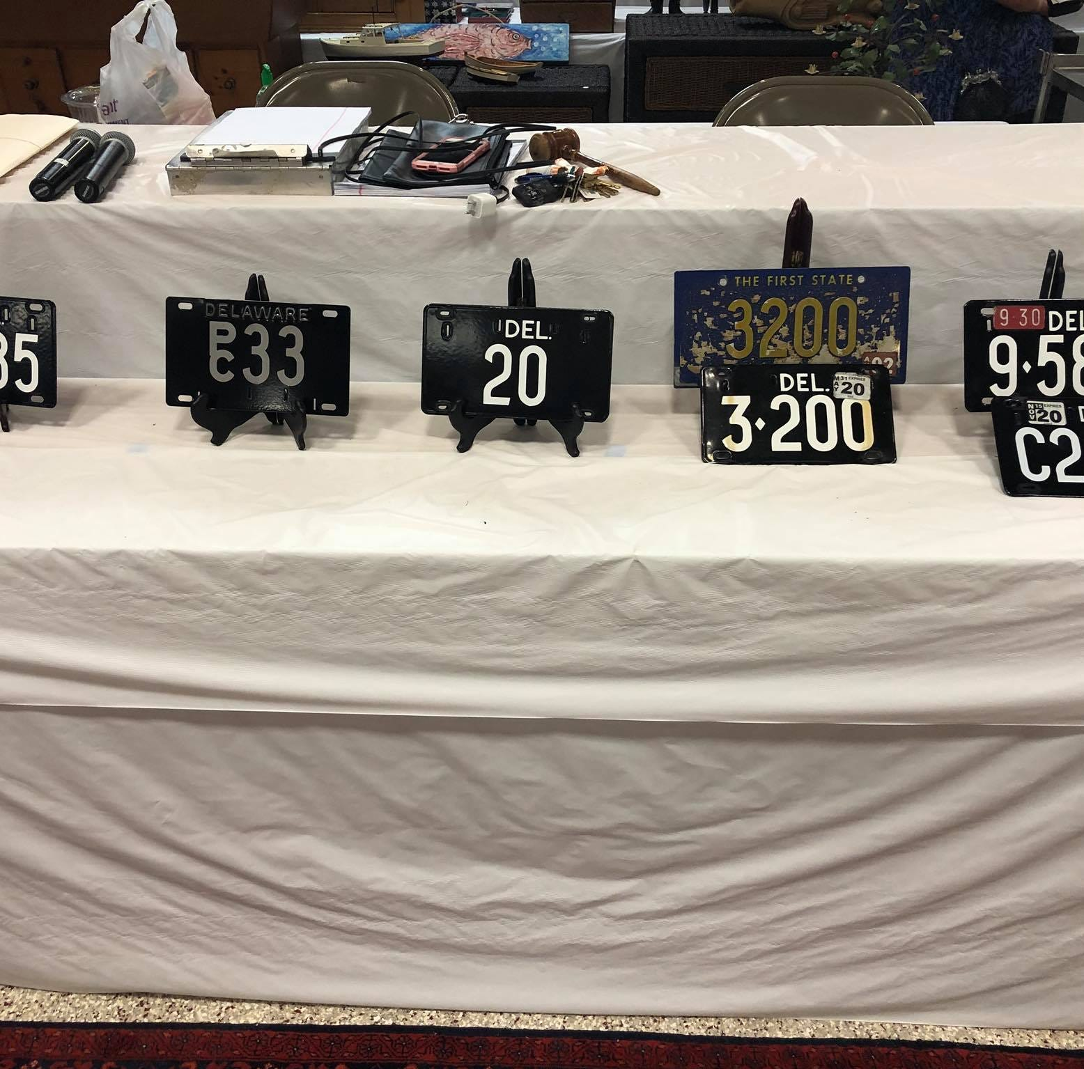 Low-digit Delaware tag 20 goes for six digits at Rehoboth auction
