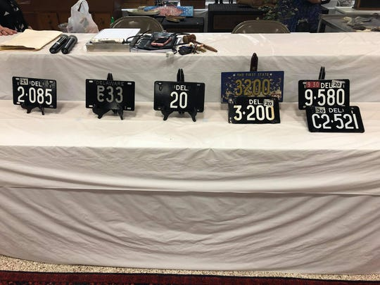 An auction Sunday with five low-digit tags for sale brought $410,000 for tag no. 20 at the high end, and $3,400 for tag no. C2521 at the low end.