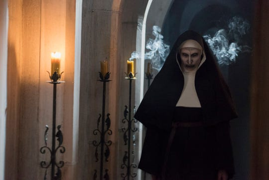 """Bonnie Aarons stars as a demonic woman of the cloth in """"The Nun,"""" the latest spinoff of the popular """"The Conjuring"""" horror franchise"""