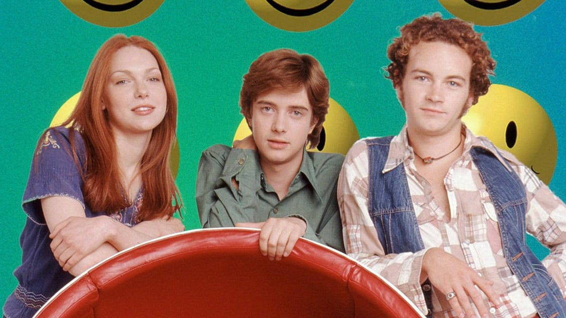 """That '70s Show,"" which made its debut 20 years ago, followed a group of friends navigating teenage life in Wisconsin. The show, featuring Laura Prepon, Topher Grace, Danny Masterson, Wilmer Valderrama, Ashton Kutcher, and Mila Kunis, lasted for eight seasons before being cancelled by Fox in 2006. Here's where a few of our favorites actors from the show are now."