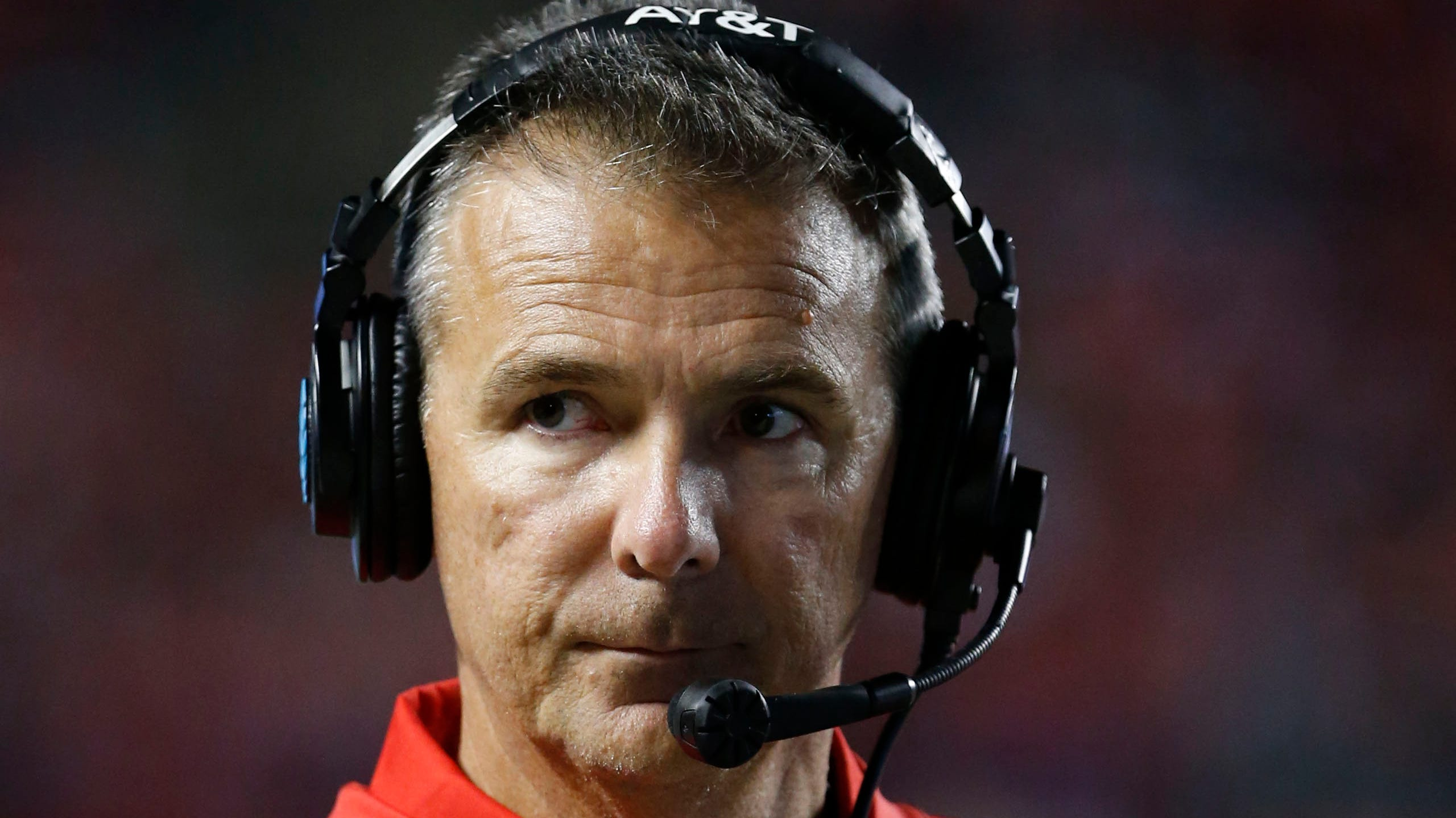 Ohio State coach Urban Meyer looks on during a game last season.