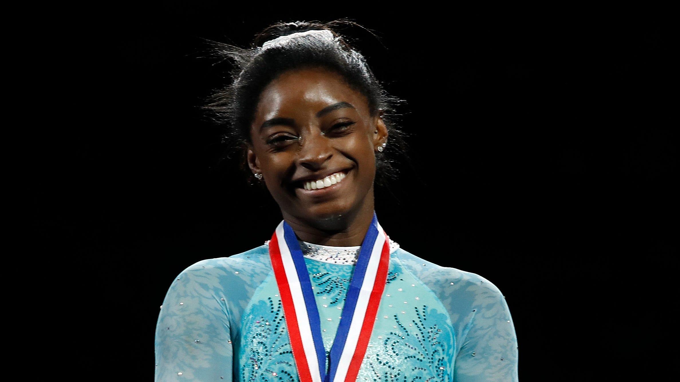 Simone Biles speaks volumes where USA Gymnastics does not at U.S. Gymnastics Championships
