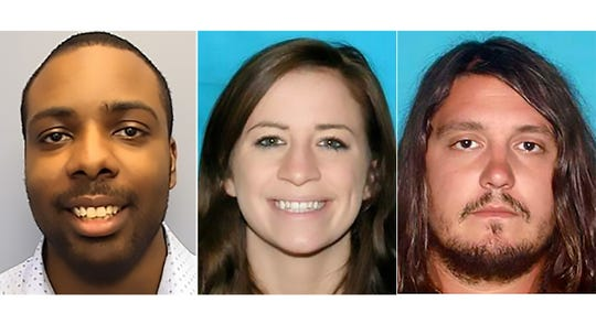 Kendall Rice, 31, Jamie Sarrantonio, 30, and Bartley Teal, 33, all of Nashville, Tennessee, were killed within three days of one another in August 2018. Two men are believed to be responsible for all three deaths.