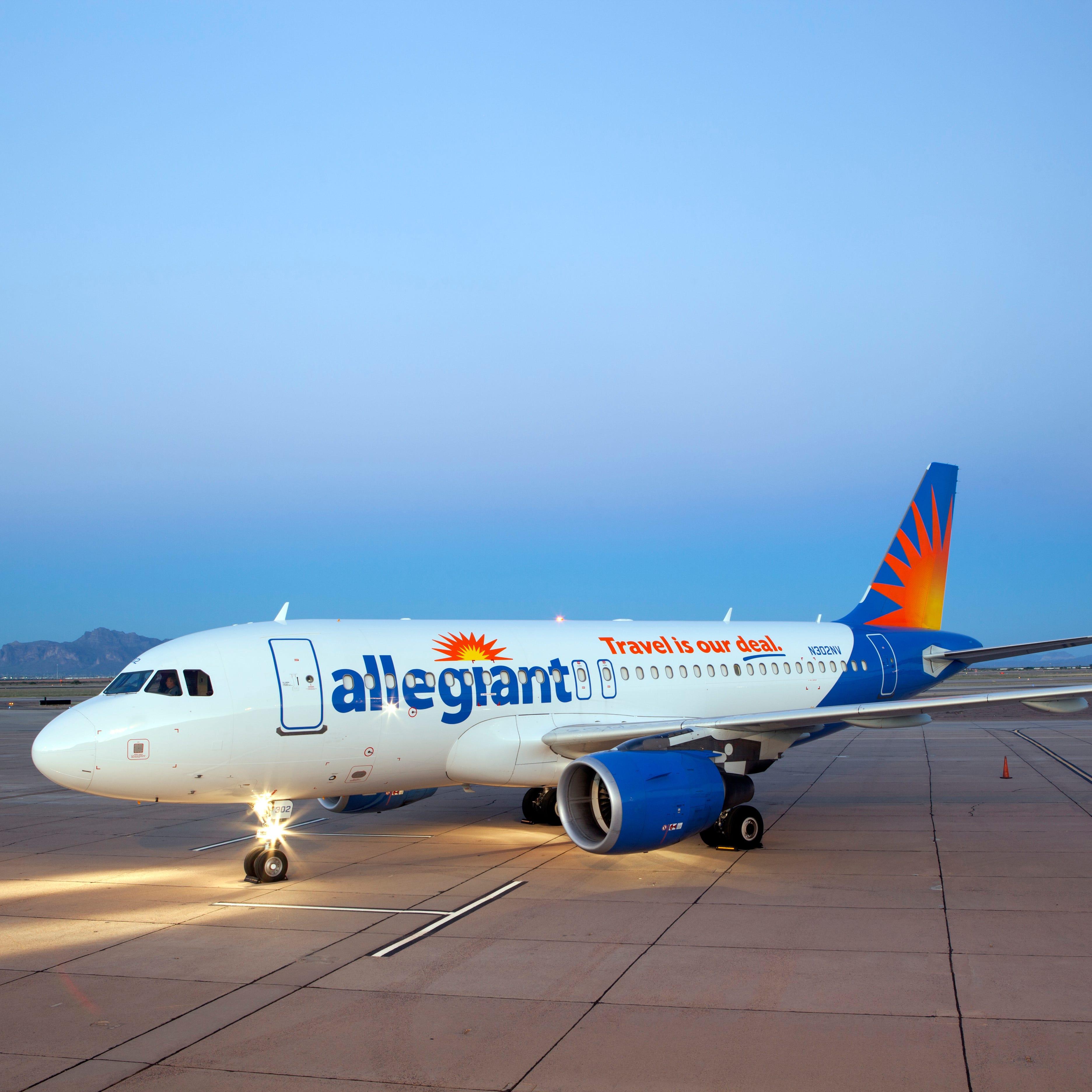 An Allegiant Airbus aircraft.