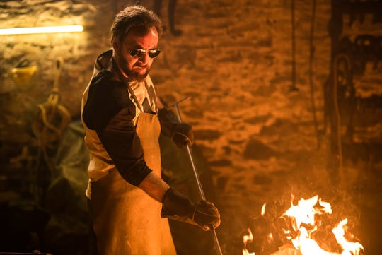 "The vengeful fire of Red (Nicolas Cage) burns bright after tragedy strikes in the horror fantasy ""Mandy."""
