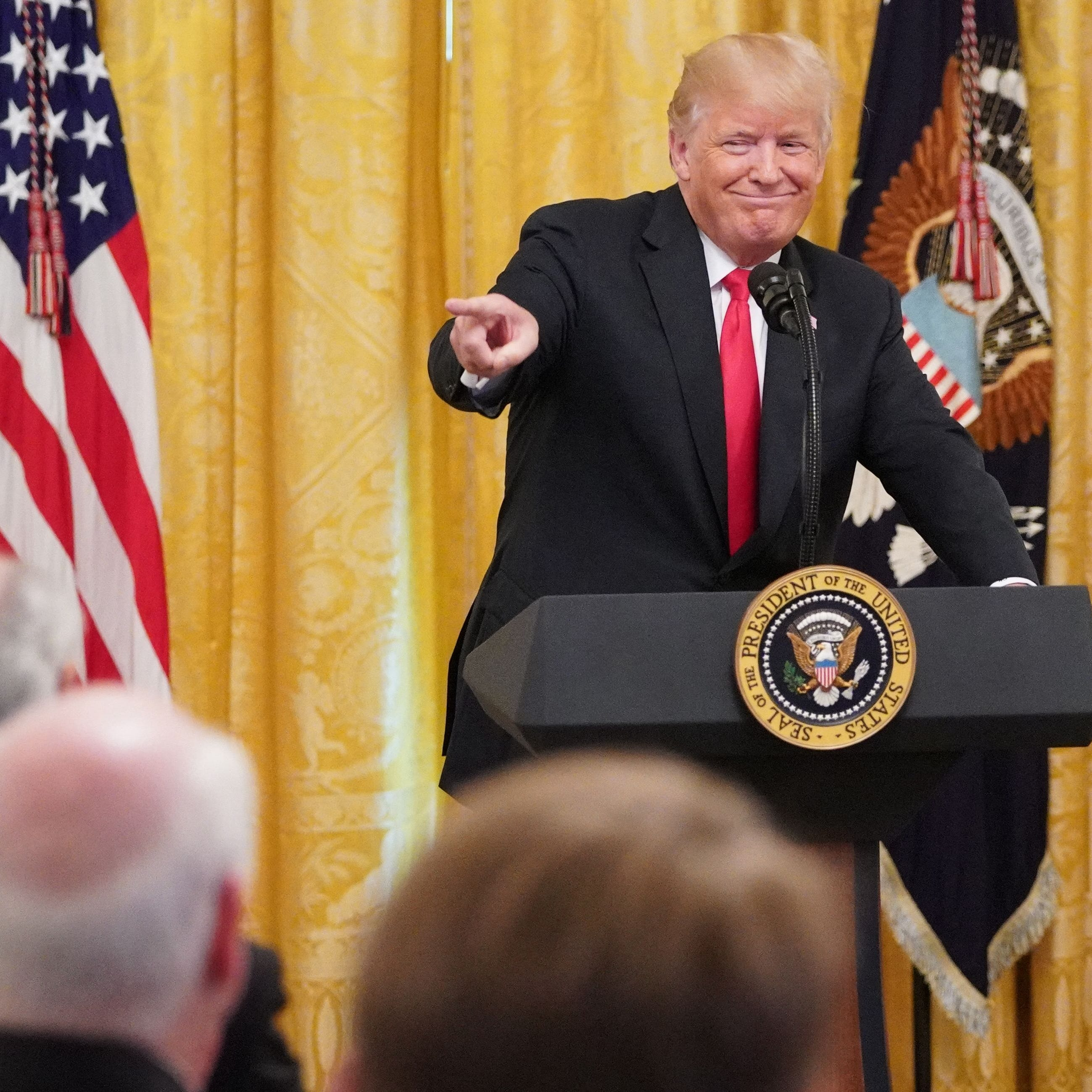 Was Gov. Doug Ducey mortified by Donald Trump's offensive gaffe at White House event?