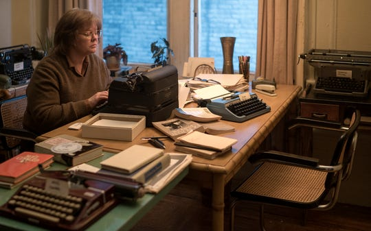 "Melissa McCarthy stars as real-life literary forger Lee Israel in the drama ""Can You Ever Forgive Me?"" (Oct. 19)."