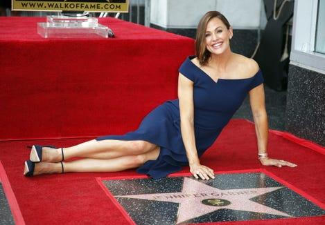 Jennifer Garner wore a chic Roland Mouret dress to unveil her star on Hollywood's Walk of Fame.