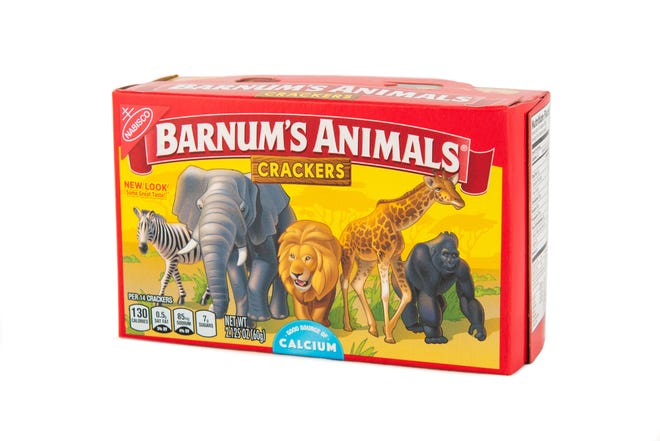 Boxes of Nabisco's animal crackers no longer show cages.