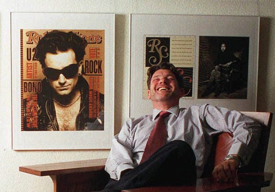 Rolling Stone founder Jann Wenner at the company's office in New York on Oct. 15, 1997.