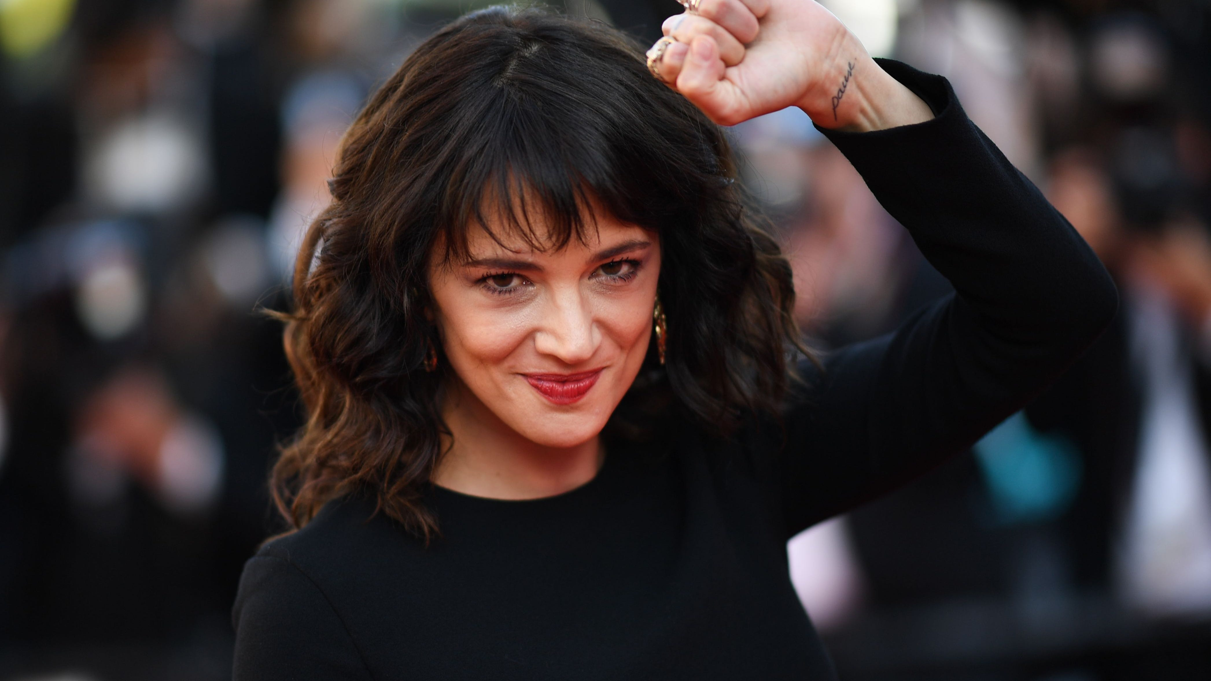 Italian actress Asia Argento at the Cannes Film Festival in Cannes, France, on May 19, 2018. ORIG FILE ID: AFP_18H171