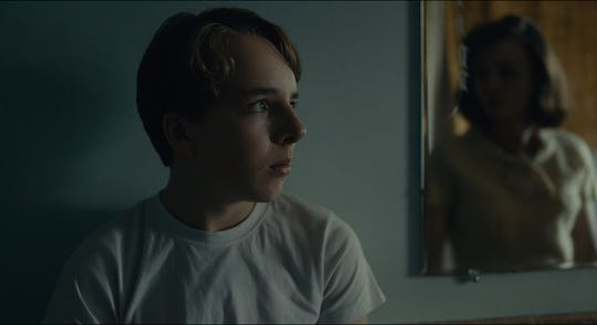 "A teenage boy (Ed Oxenbould) in the 1960s watches his parents (Carey Mulligan and Jake Gyllenhaal) grow apart in the drama ""Wildlife"" (Oct. 19)."