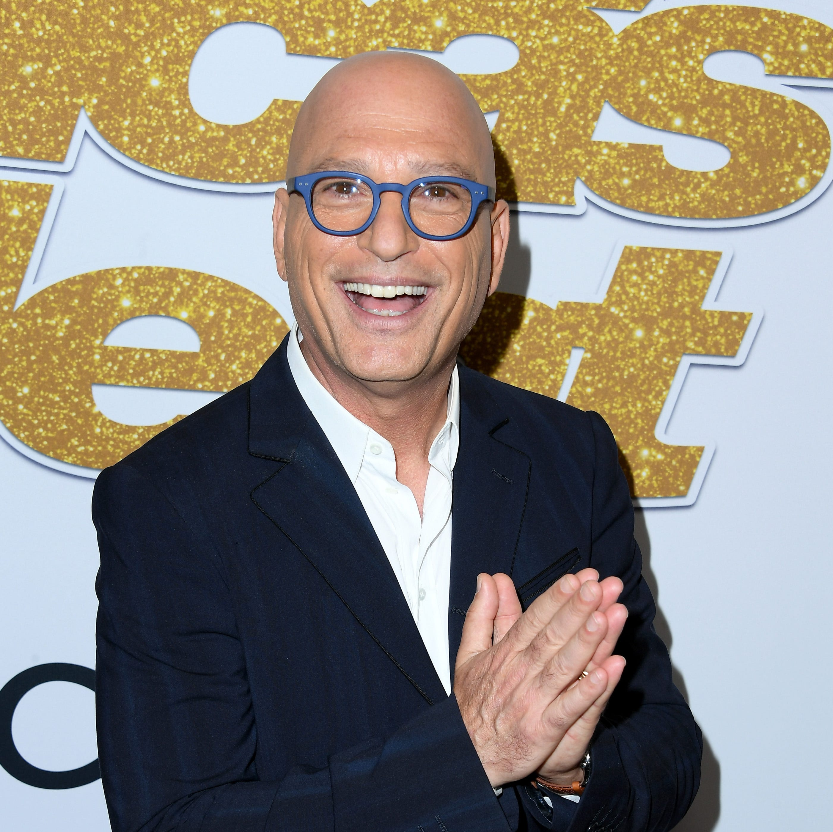 'America's Got Talent' judge Howie Mandel poses on the red carpet after the first live show of the season on Aug. 14 at the Dolby Theatre in Los Angeles.
