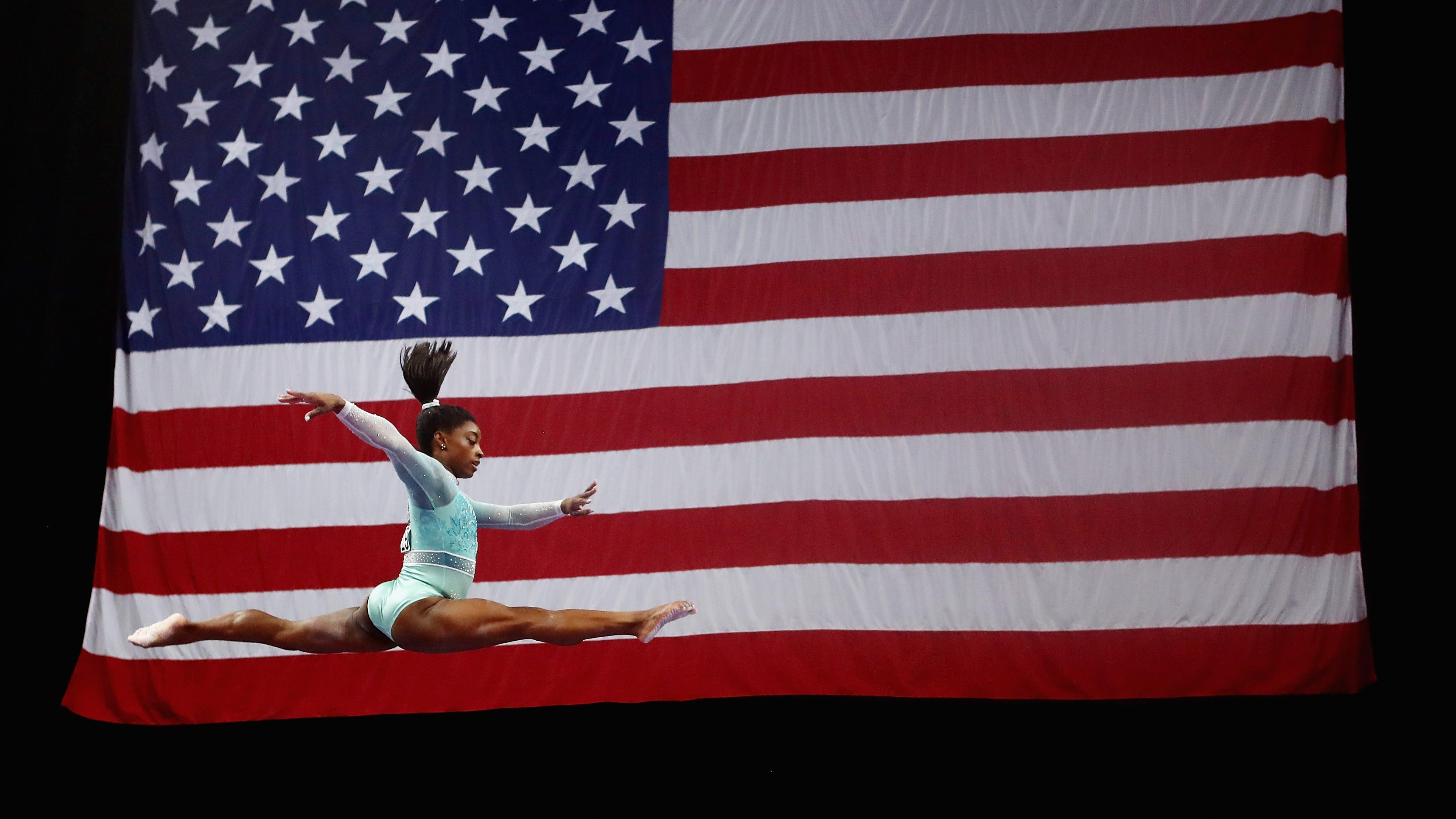 Simone Biles sweeps all-around, event titles at U.S. Gymnastics Championships