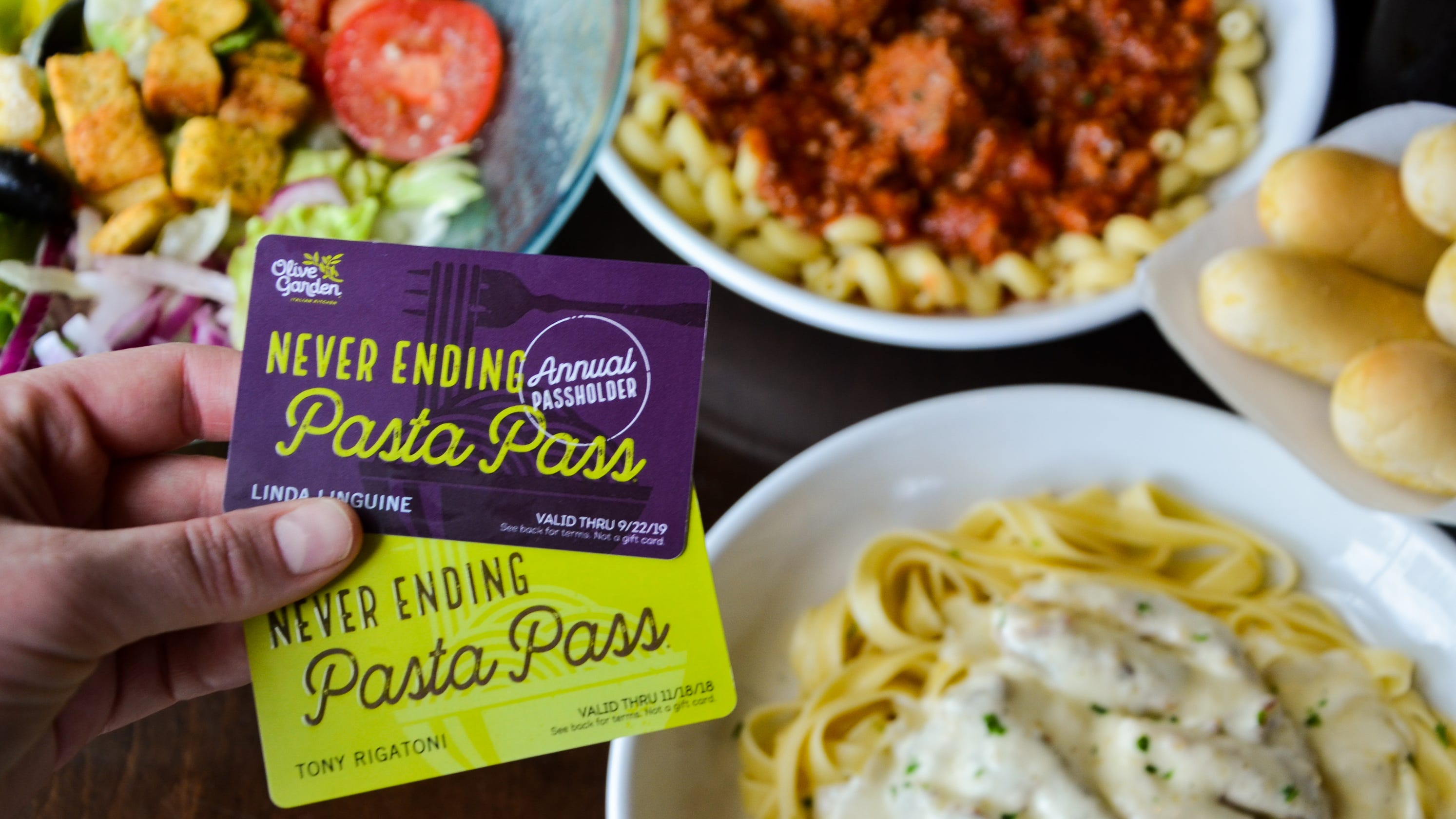 olive garden pasta pass carb lovers will have to act fast thursday - Olive Garden Vallejo