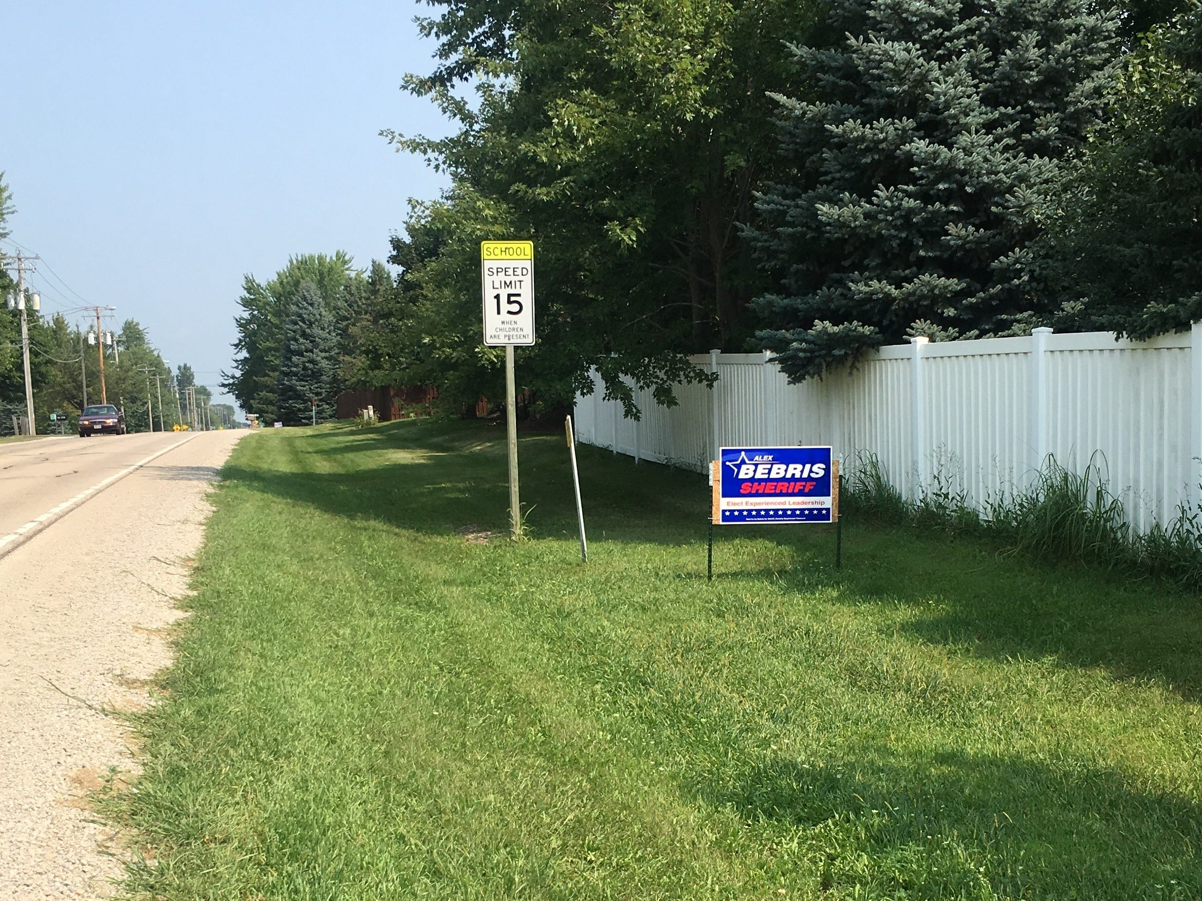 Election signs cannot be placed in the public right of way
