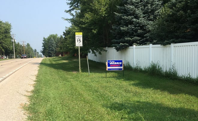 State and local governments prohibit the placement of political signs on public property.
