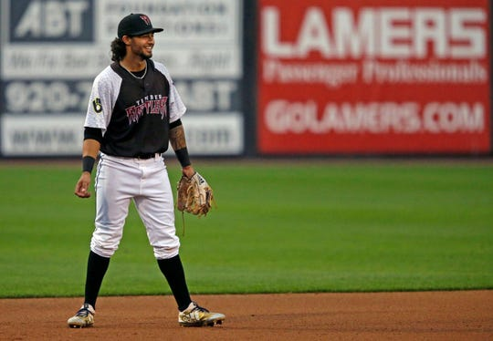 Eddie Silva is batting .342 in 20 games with the Timber Rattlers since being promoted from Helena.