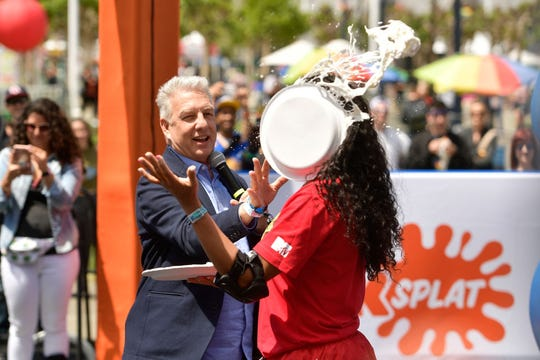 Marc Summers and Kam Williams attend Double Dare presented by Mtn Dew Kickstart at Comedy Central presents Clusterfest on June 3, 2018 in San Francisco, California.