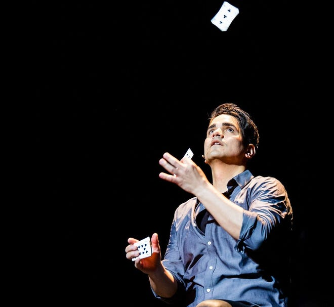 Magician Jason Bishop tours the world with his shows.
