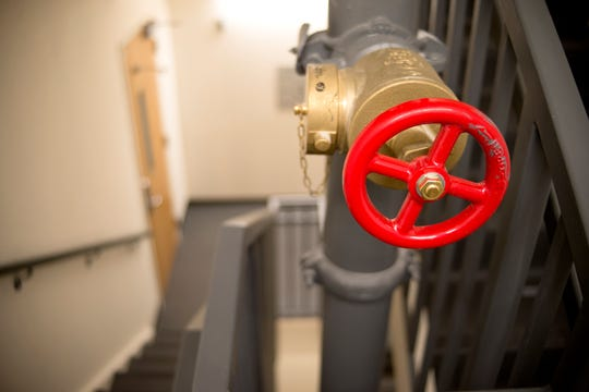 Standpipes in the stairwells of The Woods apartments at UNCA are among the NC DOI's safety concerns.