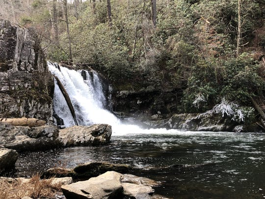 Abrams Falls in Great Smoky Mountains National Park is in a remote area on the Tennessee side of the park.