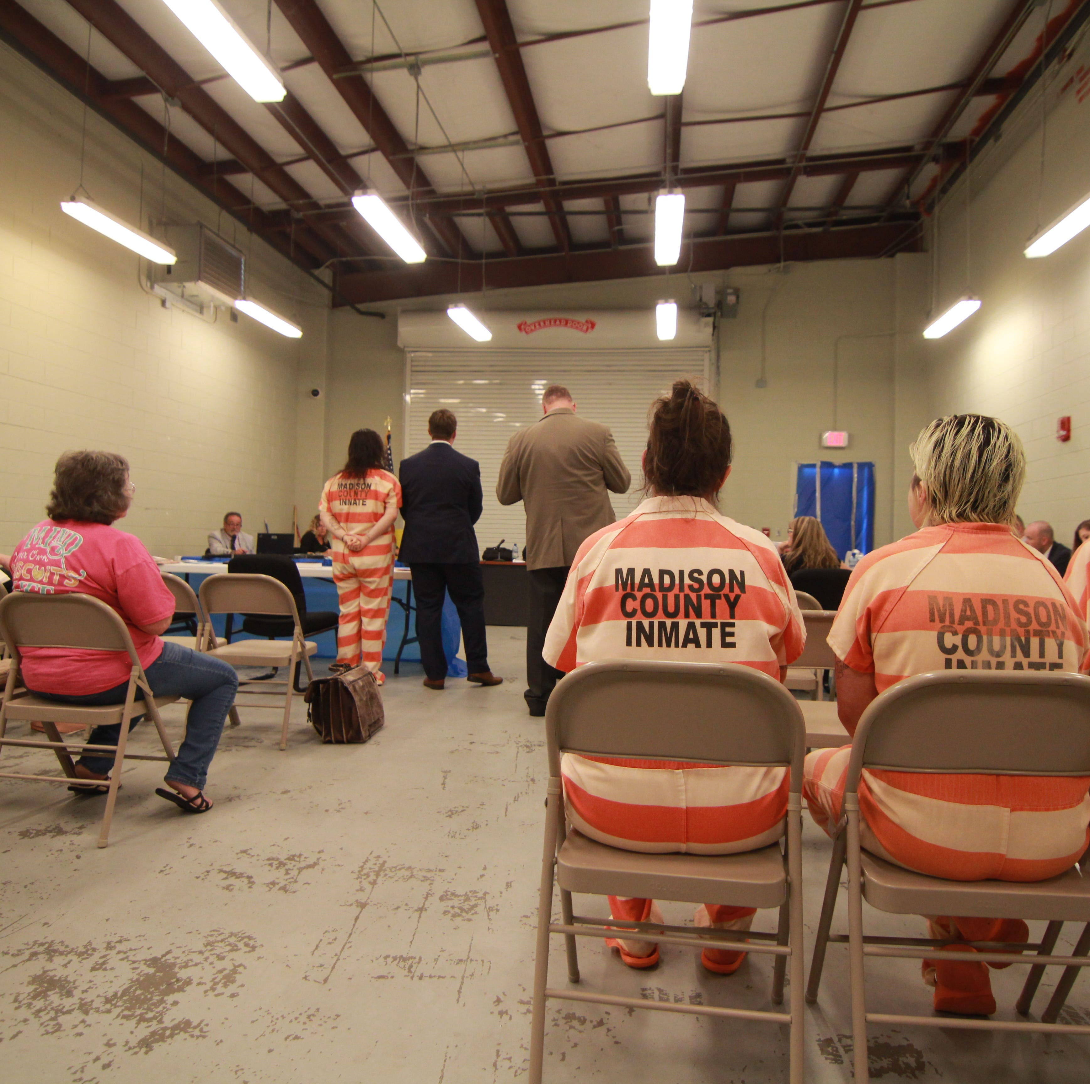 Full docket sends court cases to jail garage in Madison County
