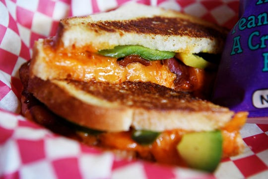The Underground Cafe's pimento panini with spicy chipotle pimento cheese, avocado and bacon August 16, 2018.