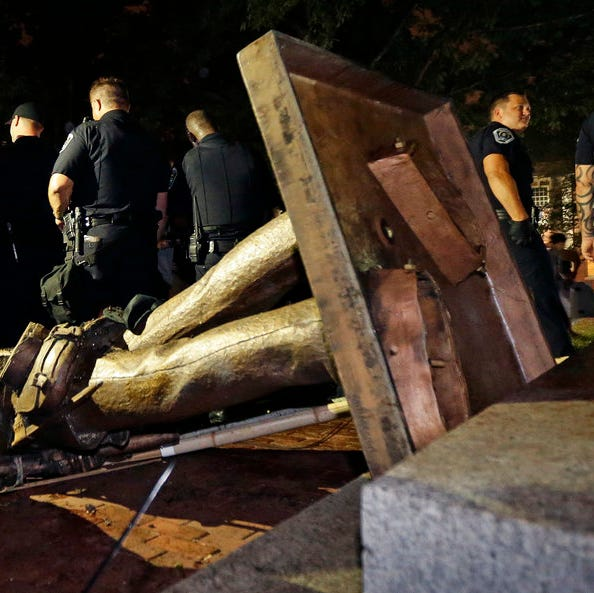 'Silent Sam' Confederate statue on UNC campus pulled down in protest