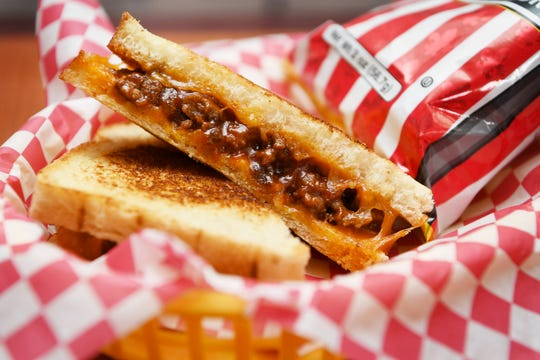The Underground Cafe's Sloppy Joe grilled cheese August 16, 2018.