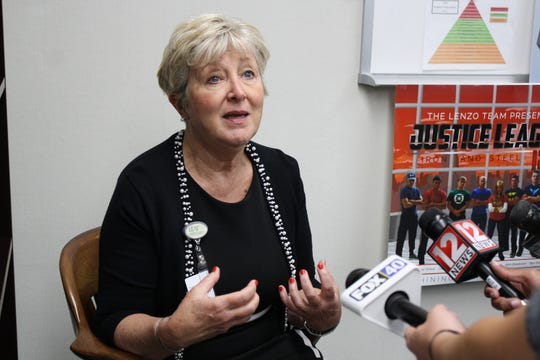 Union-Endicott Central Schoole District superintendent Suzanne McLeod remembers kindergarten teacher Cassandra Cline at the district offices Tuesday afternoon.