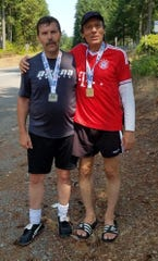Edward Barrera with his friend and fellow soccer player, Carl Blaisdell of Silverdale.