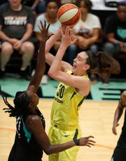 Seattle Storm forward Breanna Stewart earned Associated Press WNBA Player of the Year honors.