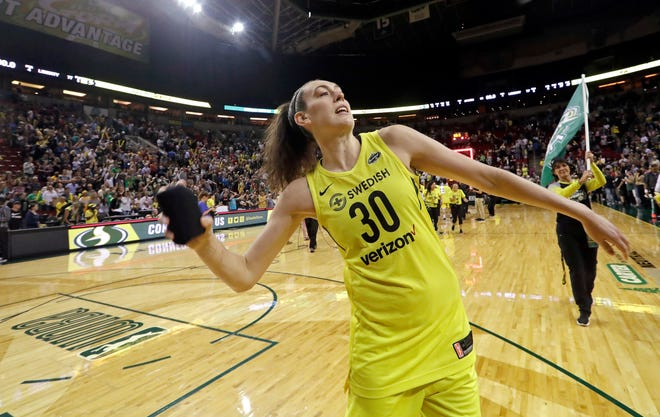 Seattle Storm forward Breanna Stewart was named the Associated Press WNBA Player of the Year.